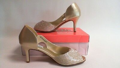 Touch Ups Wedding Shoes - Champagne- Charlie - US 12W UK 10 #27E359