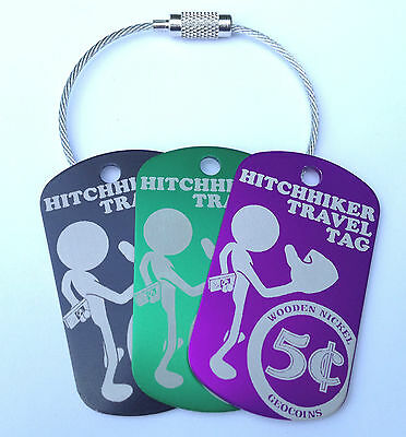 Hitchhiker Travel Tag Trackable 6 Pack