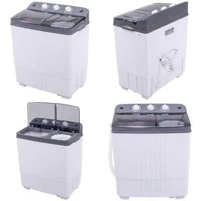 Washing Machine Washer Portable Mini Compact Twin Tub Washer Spin Dryer Laundry