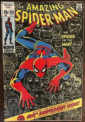 The Amazing Spider-Man 100. Marvel. Iconic John Romita Cover. Solid FN-