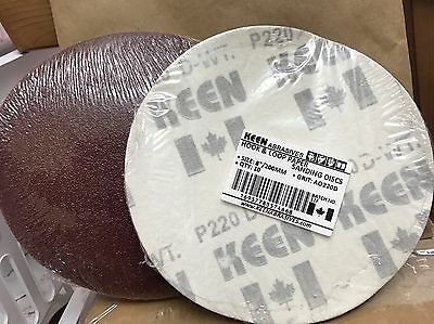 "Choice of Grit, KEEN 8"" H&L, No Vac Holes, Paper Sanding Disc, 74668 (50/Pack)"