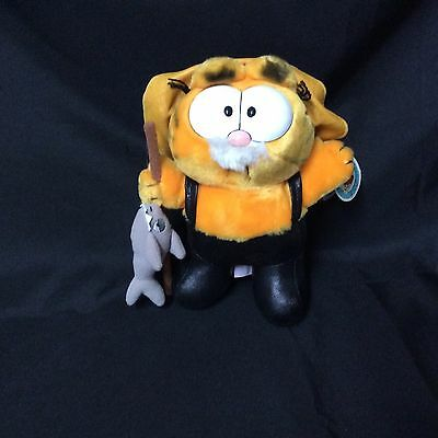 1981 Dakin Garfield Big Cat On Campus Stuffed Animal Vintage