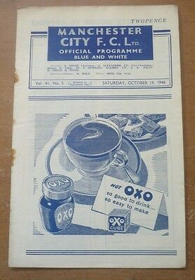 Manchester City v Swansea Town, 1946/47 - Division Two Match Programme.