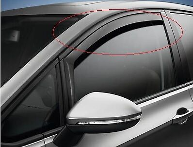 New Genuine Vw Golf Sportsvan Sv Front Door Windows Wind Deflectors Set