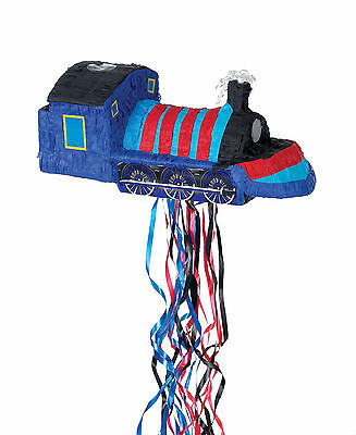 Blue Train Pinata Pull String | Party Game | Decoration