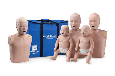 NEW Prestan CPR Pro Family Pack w/ Blue CPR Monitor 2 Adults, 2 Infants, 1 Child