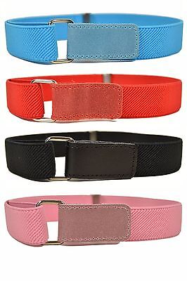 Kids Belts/Childrens Belts. Boys & Girls Elasticated Hook & Loop Belts 1-6 Yrs
