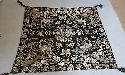 Antique Chinese silk hanging embroidery LARGE