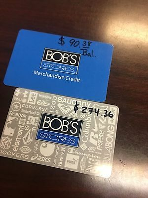 Bobs gift card Bob's clothing store sneakers shoes $364.74
