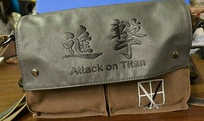 Attack On Titan Grey/brown Purse