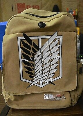 Attack On Titan Brown Backpack