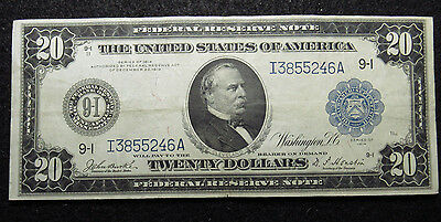 1914 $20 Federal Reserve LARGE Note