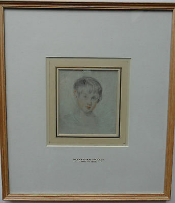 Alexander Fraser Arsa 1786-1865 Original Coloured Drawing 'portrait Of A Boy'