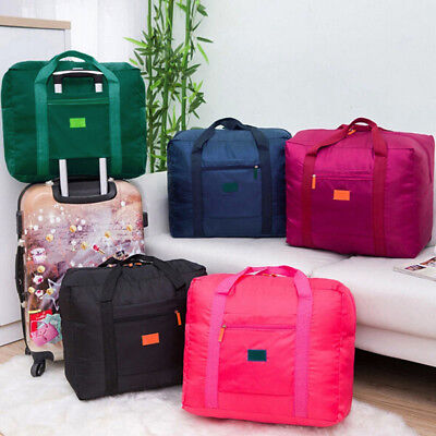 Waterproof Foldable Travel Luggage Clothes Capacity Storage Duffel Bag Peachy