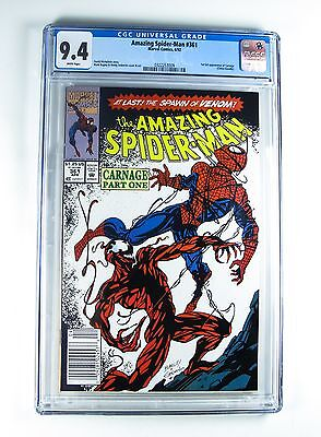 Amazing Spider-Man 361 Marvel 1st Full Appearance of Carnage CGC 9.4