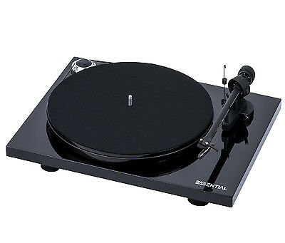 Pro-Ject Essential III Turntable (Black).  Belt Drive, Aluminum Tonearm. NEW