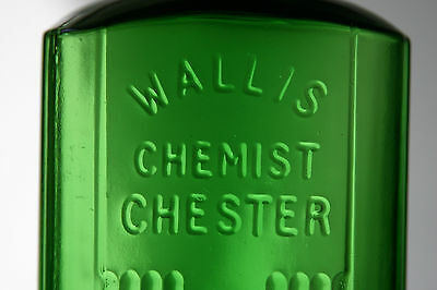 RARE, KH-59, 6 1/4in. FOREST GREEN, WALLIS, CHEMIST, CHESTER, NOT TO BE TAKEN