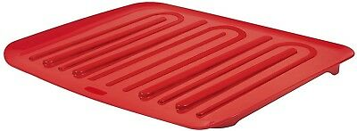 Rubbermaid Antimicrobial Drain Board, Red, Large (FG1182MARED)