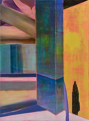 Original Oil and Acrylic on Canvas Painting 'Seascape Monolith' by Ori Feinberg