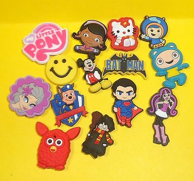 Mix Lot Pony HK Superman 14 Shoe Charms, Plugs fits Jibbitz Clog Croc Wristbands