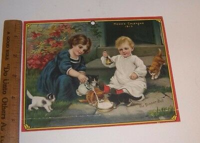 Vintage 1913 Victorian Print from HOOD'S CALENDAR THE DINNER BELL Eclipse Chart