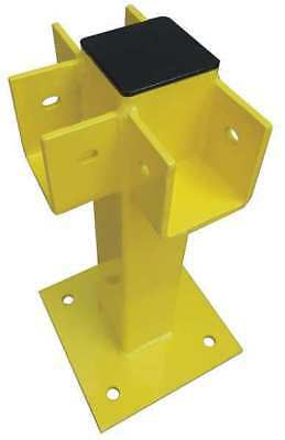 Three Way Post,21 In.,Yellow,Steel