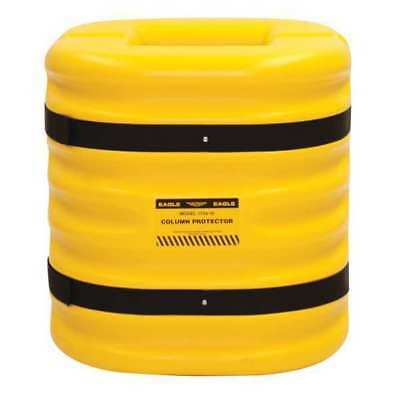 1724-6 Column Protectr, Fits 6 in., HDPE, Yllw
