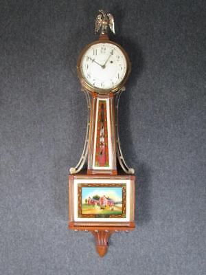 *exceptionally Clean *antique Waltham Banjo Clock, Wayside Inn