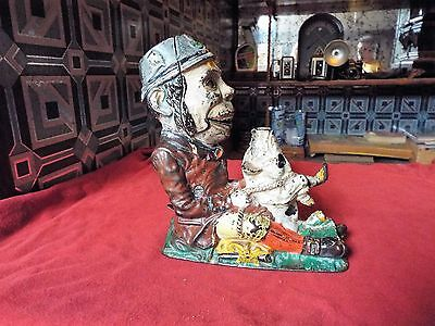 Wonderful All Original 'Paddy and the Pig Mechanical Bank J and E Stevens.1882