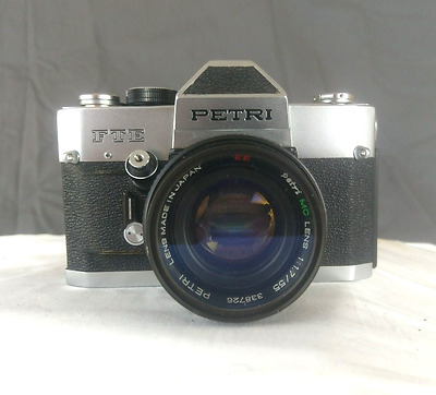Petri FTE 35mm film 55mm 1.7 lens Near Mint condition