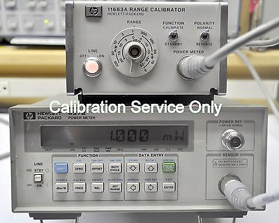 CALIBRATION SERVICE Agilent 437B Power Meter NIST Calibration