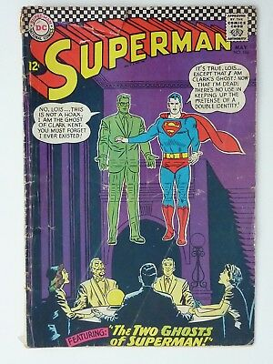 Superman #186 - G+ to VG 1966 Silver age