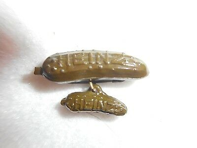 Vtg. Rare Brown Heinz 57 Pickle Pin Brooch From Chicago World's Fair 1939-1940