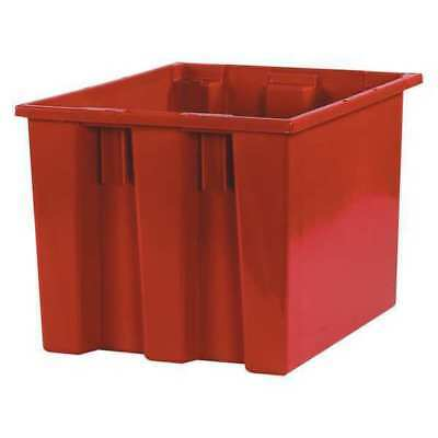 "Stack & Nest Containers,17""x14 1/2""x12 7/8"",Red,PK6 PARTNERS BRAND BINS117"