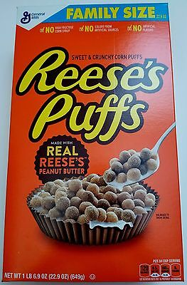 New Reese's Puffs Cereal 22.9 Oz Free Worldwide Shipping Usa Seller