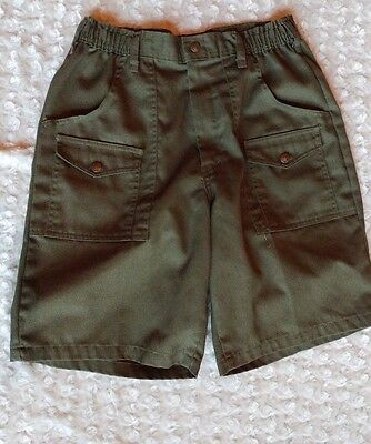BOY SCOUTS OF AMERICA~Official Uniform Green Shorts~Waist 32 EUC