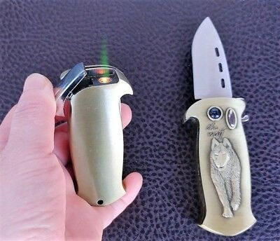 Multifunction Blade Jet Flame Windproof Refillable Butane Gas knife Lighter