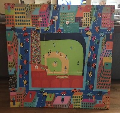Childrens Nursery Canvas Art - Baseball Scene