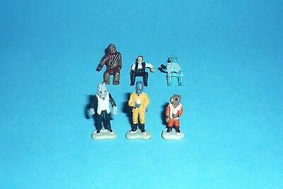 STAR WARS Micro Machines - CANTINA FIGURES LOT - Tatooine Han Solo Greedo Chewie