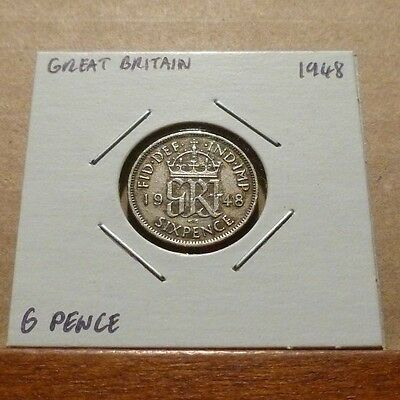 6 PENCE COIN - 1948 - Great Britain