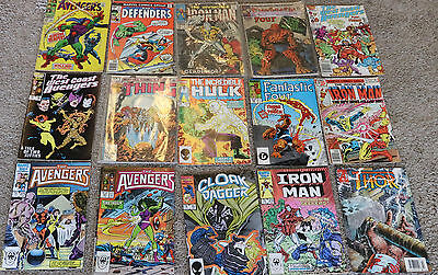 Mixed LOT Of 70's & 80's MARVEL Comics Ironman Hulk  Fantastic Four-Thing 1st AP