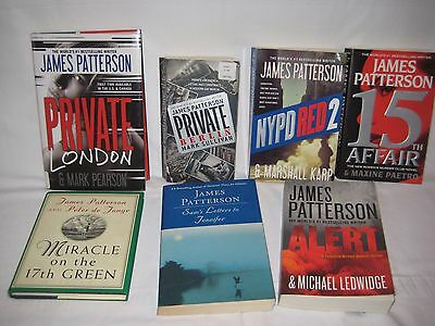 James Patterson Assortment of books Lot of 7
