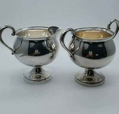 Authentic Vtg Sterling Silver Sugar And Creamer Set -Weighted 720