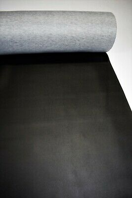 """Pleather Vinyl Fabric Black Faux Leather Automotive 45' Foot Upholstery 54"""""""