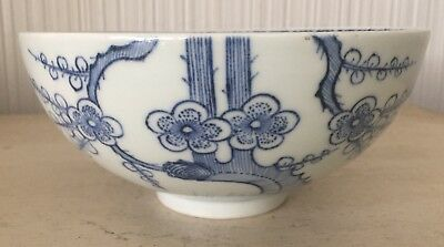Antique Early Chinese Porcelain Pottery Bowl Qing Dynasty? Blue & White Birds