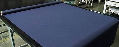 """Navy Blue Bimini Top Boat Cover UV Outdoor Coated Marine Canvas Fabric DWR 60""""W"""