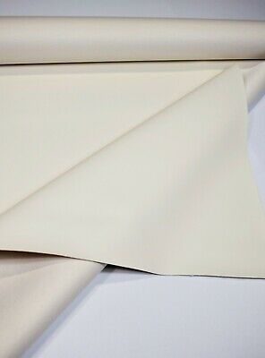 """Marine Vinyl Fabric Off White 5 Yards Automotive Boat Outdoor Upholstery 54"""" W"""