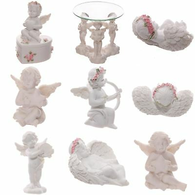 Cute Cherub Wings Collectable Gift Bag Rose Cute Praying Kissing Figurine
