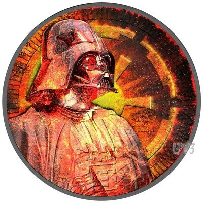 2017 1 Oz Star Wars Darth Vader Antique Finish Coin.