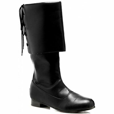 Sparrow Black  Pirate Mens Costume Boots
